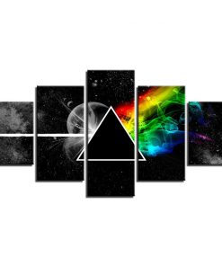 5 piece pink floyd wall art canvas
