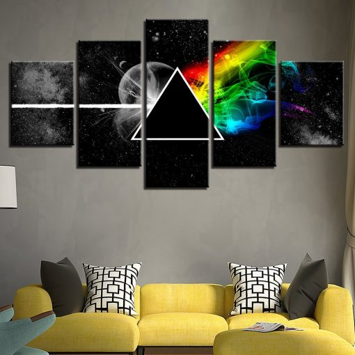 5 piece pink floyd wall art canvas for living room