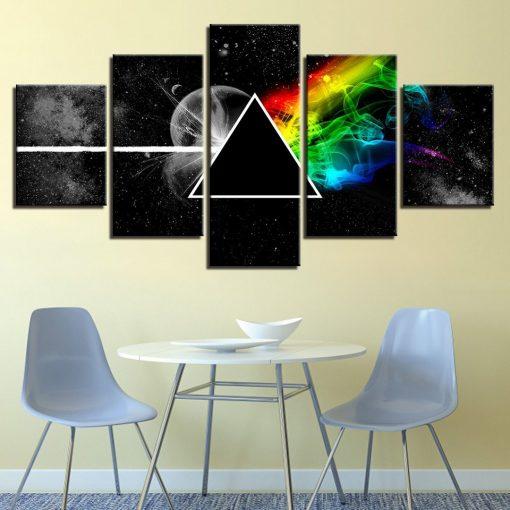 5 piece pink floyd wall art canvas