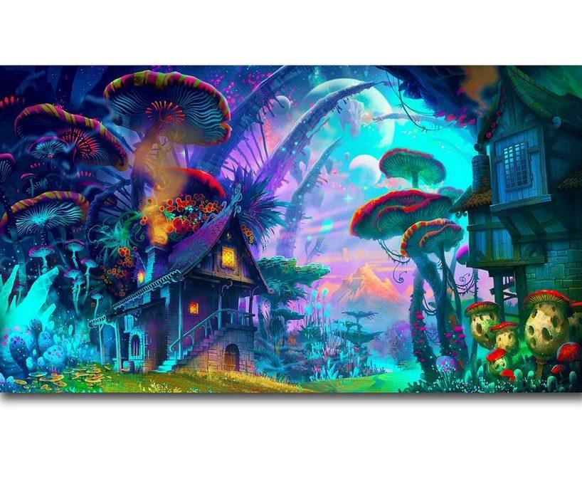 Art Print Poster Canvas Trippy Colourful Art