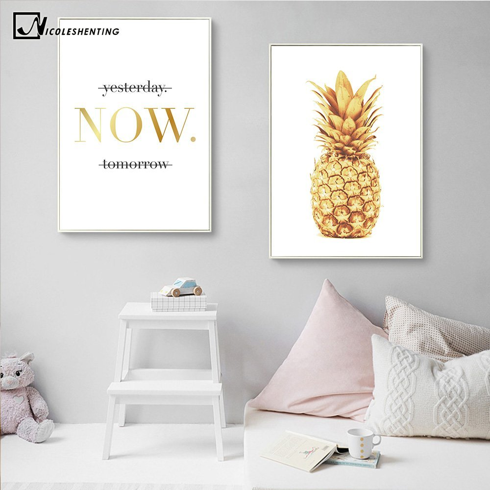 PINEAPPLE Wall Art Print Poster Minimalist Retro Home Decor Gift A3//A4 FRAMES