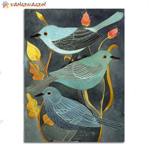 3 Birds Painting for home decor