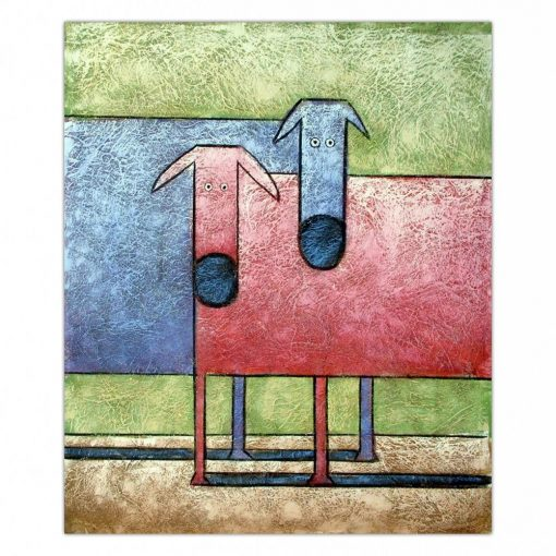 2 Abstract Cows Painting