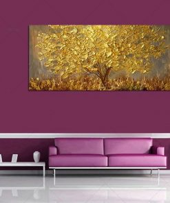 Gold Tree Painting Wall Art