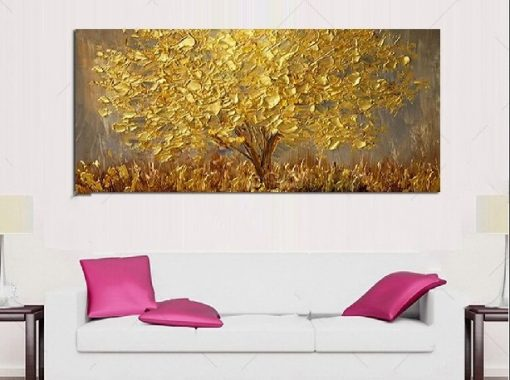 Gold Tree Painting Home Decor.