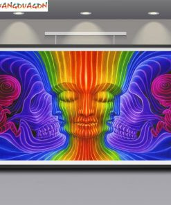 Trippy Art Silk Poster