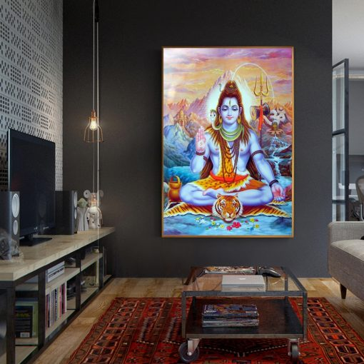 Lord Shiva Canvas Painting Living room