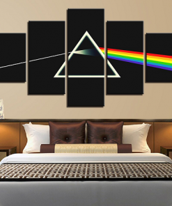 Pink Floyd 5 Piece Canvas Art Painting Initial Design