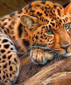 5d leopard diamond painting