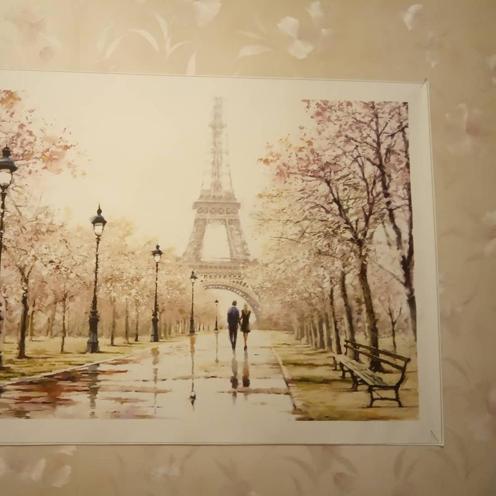 Iron Building Eiffel Tower Print Canvas Decorative Wall Art Painting Home Decor