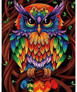 Painting By Numbers Owl DIY kit For Adults & Kid.