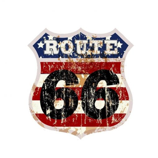 vintage route 66 wall sticker