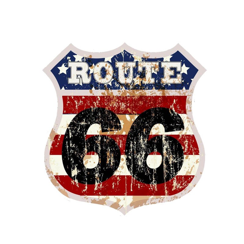 Route 66 Car Bike Sticker