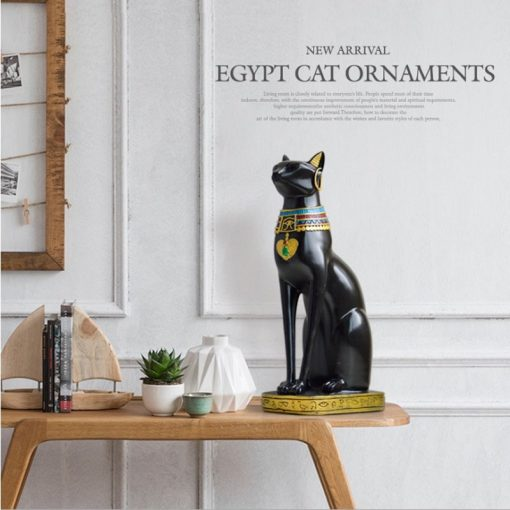 Desk Decor Black Cat Figurine