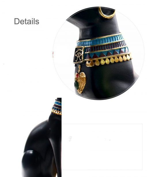 Details of design of Bastet Cat Figurine