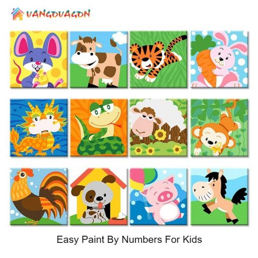 Paint By Numbers Cartoon Animals