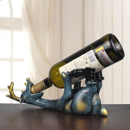 deer drinking beer wine holder