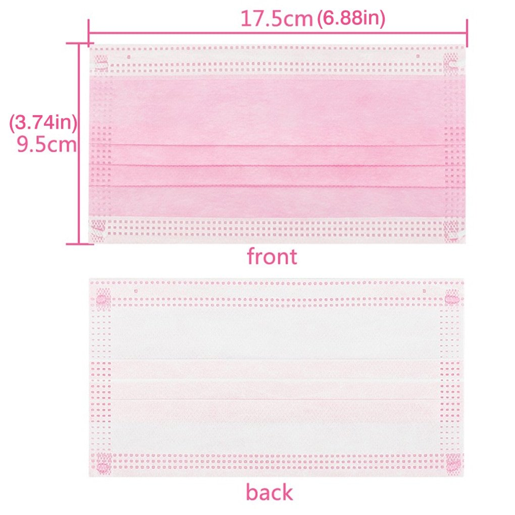 Non-woven 3 Layer Pink Medical Mask