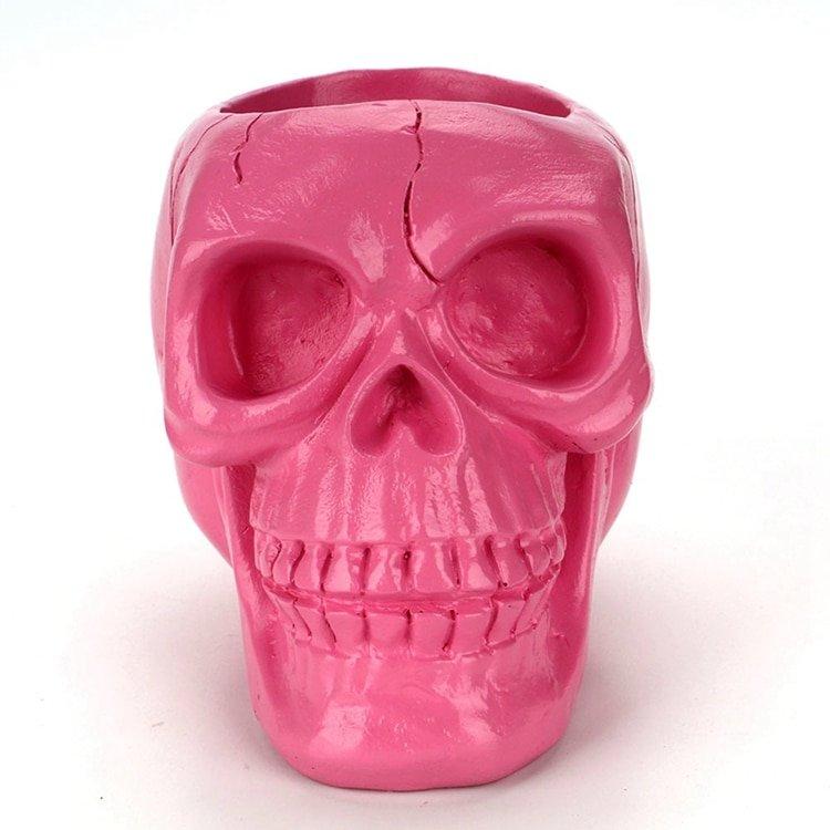 3D Skull Head Storage Box Container